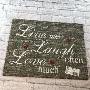 Other - Grey Live Well Doormat